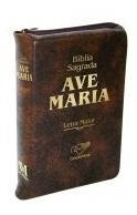 Bíblia Ave-maria De Bolso Com Ziper Católica