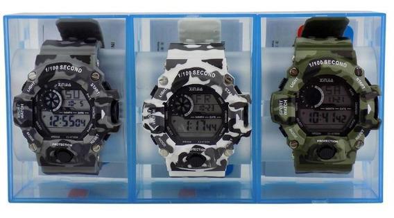 Kit 3 Relógio Masculino À Prova D´água Orizom