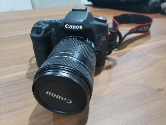 Canon 50d + Lente Efs 18-135 Mm
