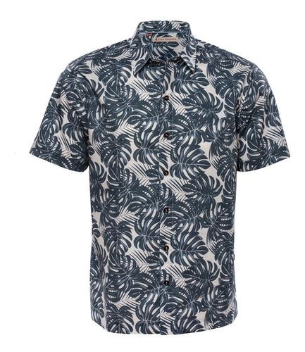 Camisa Estampada Hojas Manga Corta Mod. Howe - Costavana