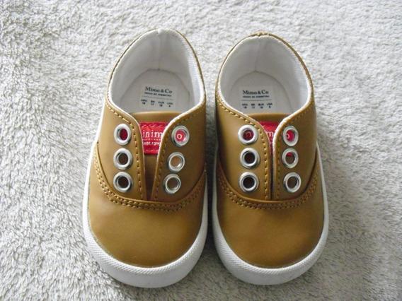 Zapatillas De Cuero Mimo & Co - Talle 18 - Sin Uso