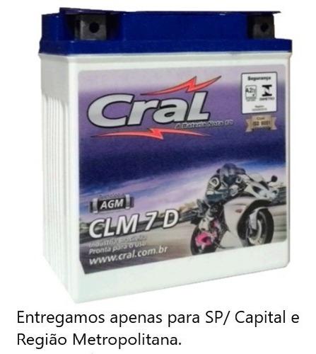 Bateria Twister Cb300 Cral Moto 7ah Clm7d ( Ref: Ytx7l-bs )