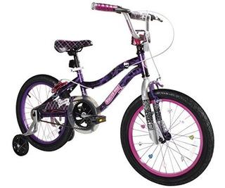 Dynacraft Monster Alta Chicas Bmx Street Dirt Bike 18 Negro