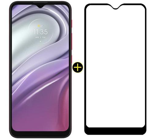 Imagem 1 de 9 de Kit Celular Moto G20 Pink 64gb + Pelicula Y-protection Max