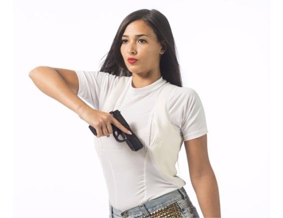 Remera Tàctica Spy Cover Cop Porta Armamento Sobaquera Mujer