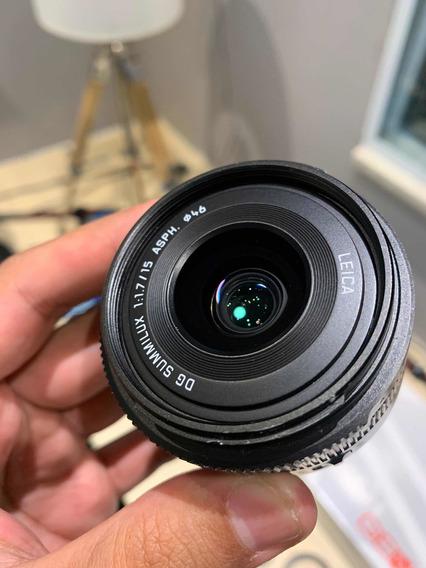 Lente Panasonic 15mm 1.7 Leica Lens