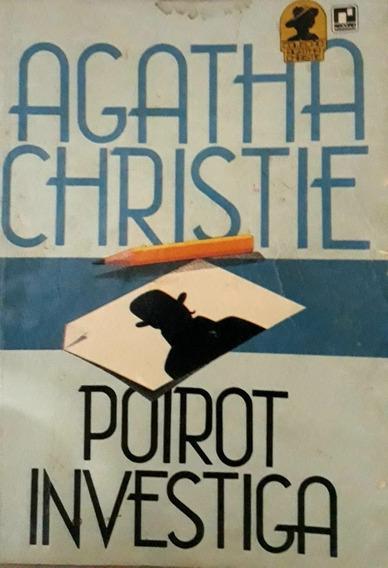Livro Agatha Christie Poirot Investiga