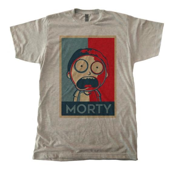 Playera Morty Tricromia Rick And Morty