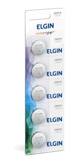Bateria Lithium Elgin Energy Cr2016 Cartela C/ 5und 82191