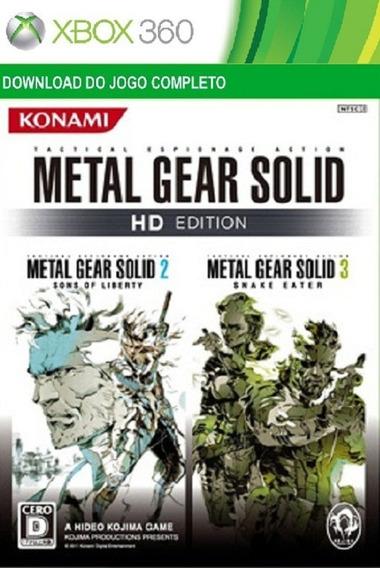 Jogo Metal Gear Solid 2 E 3 Hd Edition Xbox 360/ One Digital