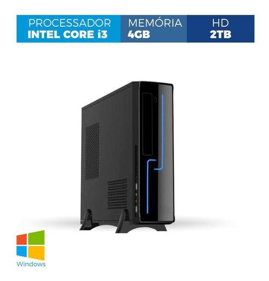 Computador Corporate Slim I3 4gb 2tb Windows