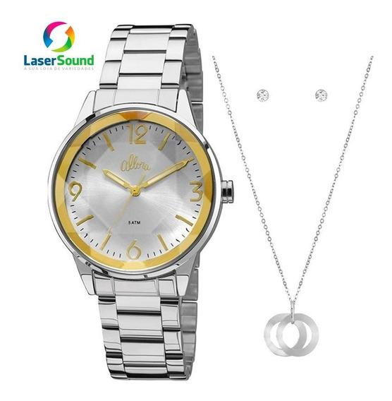 Kit Relógio Allora Feminino Al2035fat/k3k C/ Garantia E Nf