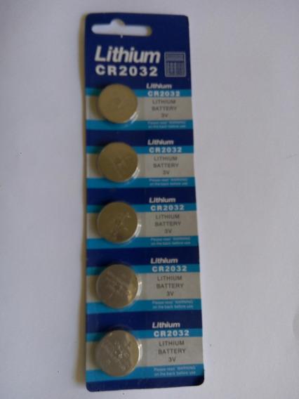 Kit 1 Cartela: 5 Pcs Bateria Cr2032 3v P/ Placa Mãe, Rel