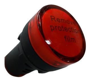 Ojo De Buey Luz Piloto Rojo Led Señalizador 220v 22mm