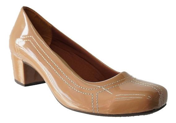 Sapato Social Salto Baixo Grosso Feminino Confortável 810