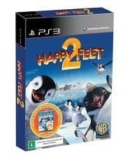Jogo Infantil Happy Feet 2 Com Brinde Filme Em Blu-ray Ps3