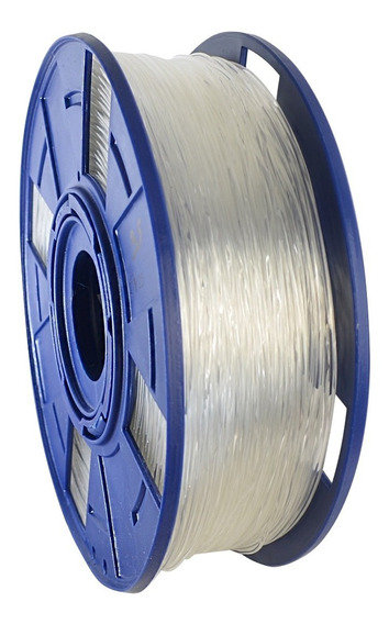 Filamento Impressora 3d Pla Transparente Natural 1kg 1,75mm