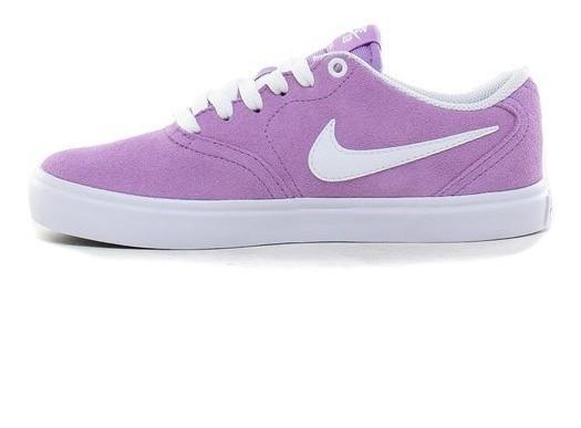Zapatillas Nike Sb Check Lila Mujer