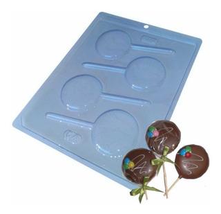 Forma Pirulito De Chocolate Redondo Liso Ref. 64 - 5 Unid