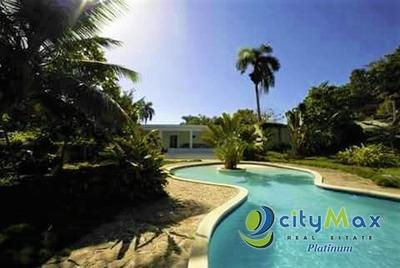 Fantástica Villa En Portillo, Samaná 4 Hab