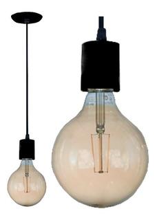 Lampara Colgante 1 Luz Bulbo Led E27 9 Colores Techo Bell05