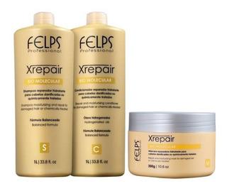 Felps Kit Xrepair Bio Molecular 2x1l + Máscara 300g + Brinde