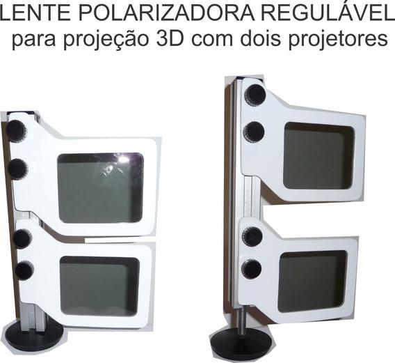 Polarizador 3d, Lente Para Dois Projetores Sobrepostos