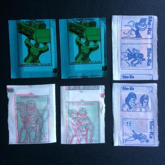 6 Envelopes Lacrados Importado - Hulk, Homem Aranha E She-ra