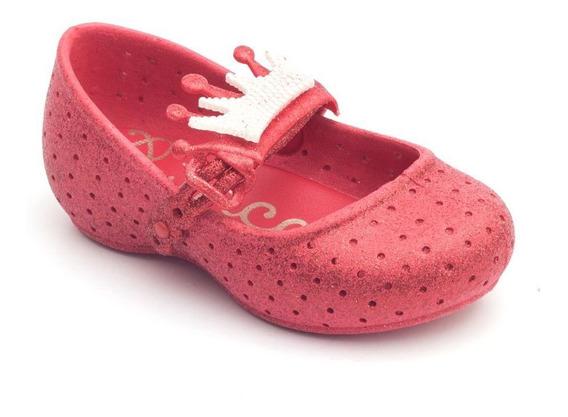 Sapatilha Plugt Princesa Coroa Gliter Infantil - Vermelho