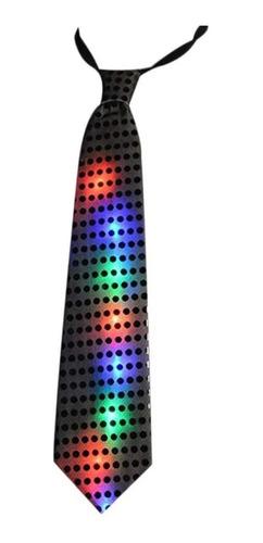 Corbata Luminosa Lentejuelas Con Luces Led Cotillón Fiestas