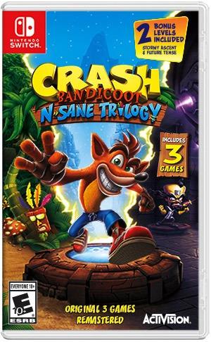 Crash Bandicoot N. Sane Trilogy - Switch - Mídia Física
