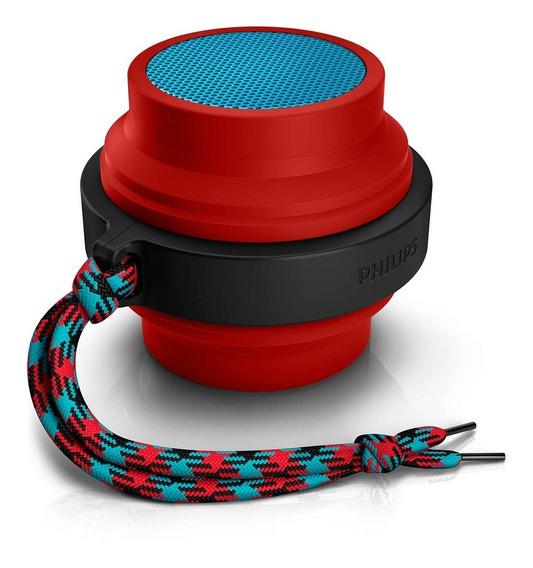 Caixa Som Philips Bt2000r/00 Bluetooth Recarregável Vermelha