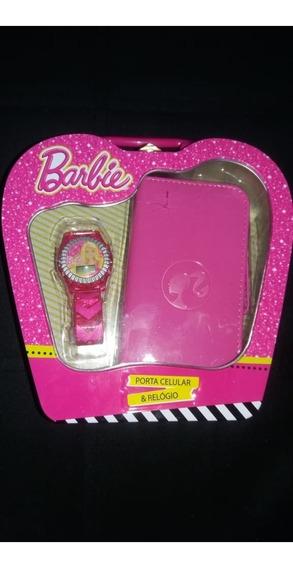 Relógio Barbie + Porta Celular Candide