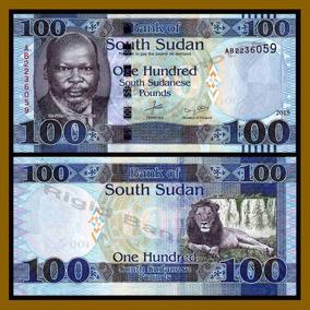 Sudão Do Sul 100 Libras 2015 P. New Fe Cédula - Tchequito
