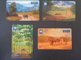 Lote 4 Cartões Telefônicos Da Telefônica Pintor Mikio Sakata