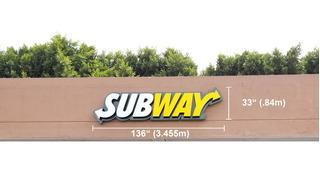 Letrero Luminoso Led Subway