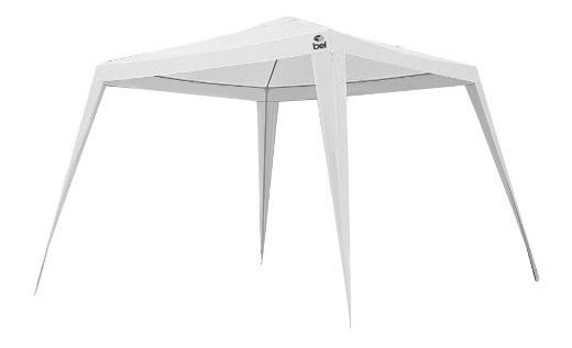Tenda Gazebo Branca Polietileno 3x3m Desmontável Belfix