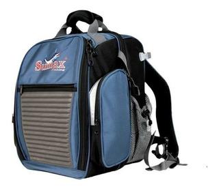 Bolsa Mochila Pesca Sumax Sm-1203 Com 3 Estojos - Azul