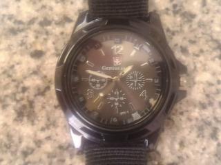 Reloj Gemius Simil Crono - Metay Malla Nylon Regalo