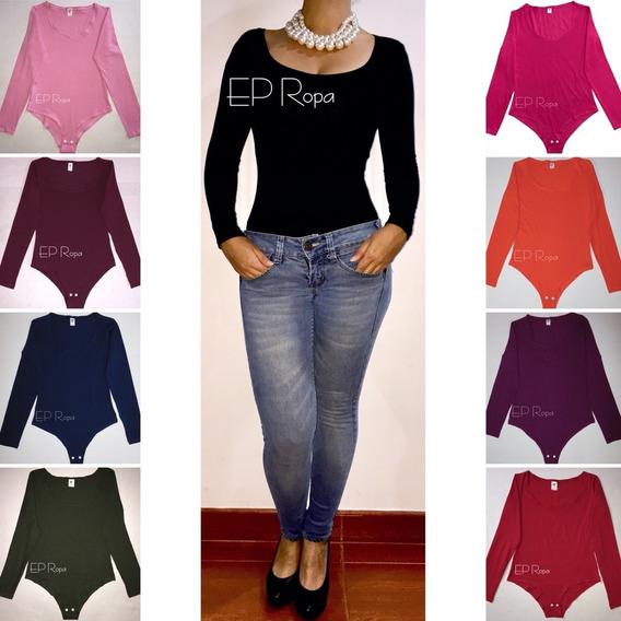 Blusa Body Escotado Licrado Mujer Escote Slim Moda Casual