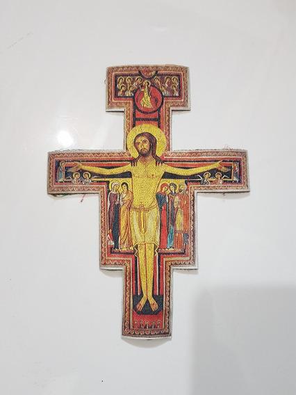 Grega Galão Cruz De São Damião - Bordado Litúrgico