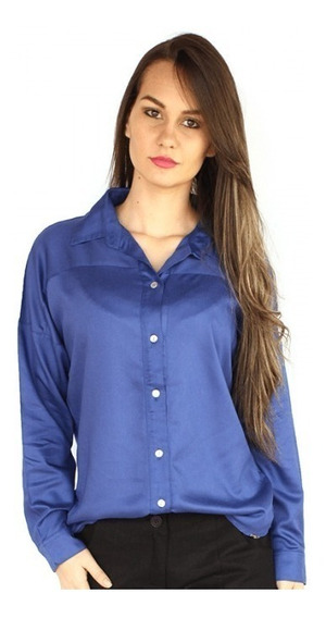 Camisa Social Dudalina Feminina - Azul