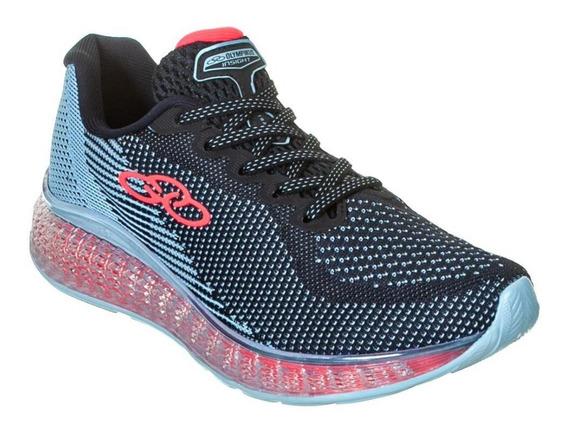 Tênis Running Olympikus Feminino Insight 719 Azul Rosa