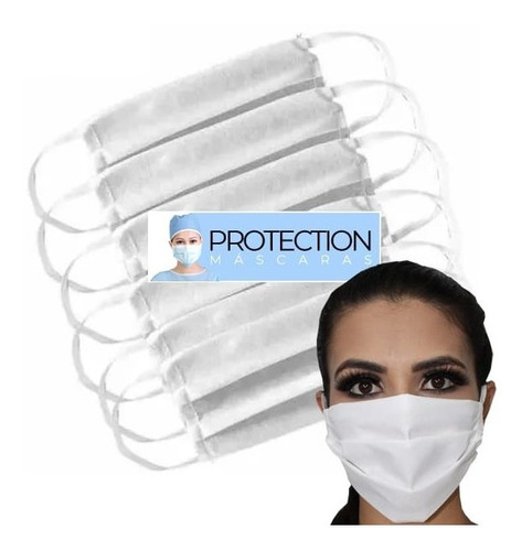 10 Máscara Cirúrgica Descartável Proteção Camada Tripla Tnt