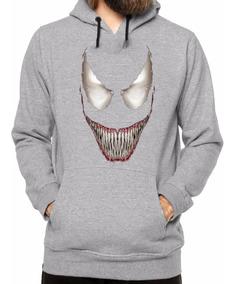 Blusa Moletom Canguru Venom Spider Man