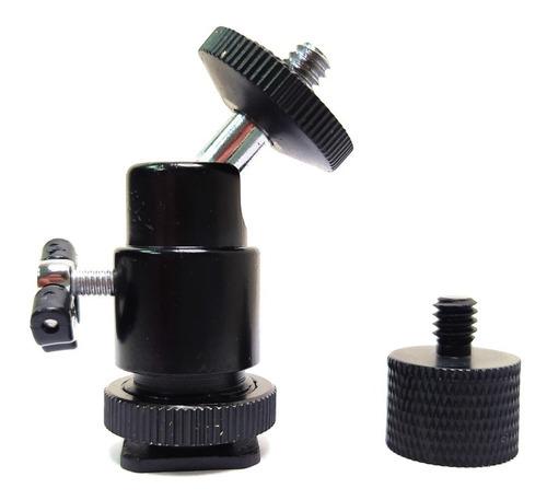 Adaptador Ballhead P/ Pedestal Microfone 5/8 P/ Rosca 1/4