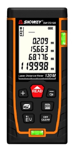 Medidor Distancia Láser Digital 120m Telémetro Área Nivel