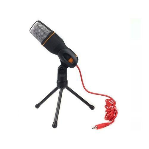 Microfone Condensador Profissional Gravação No Pc Cabo Tripé