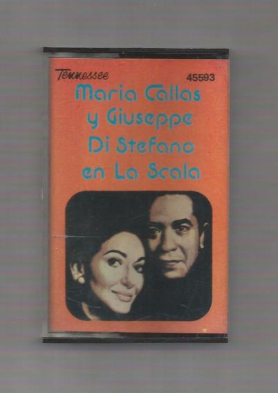 Maria Callas Giuseppe Di Stefano En La Scala Cassette Usado