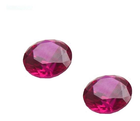Rubi Pedra Preciosa 2 Redonda 8 Mm 3171r